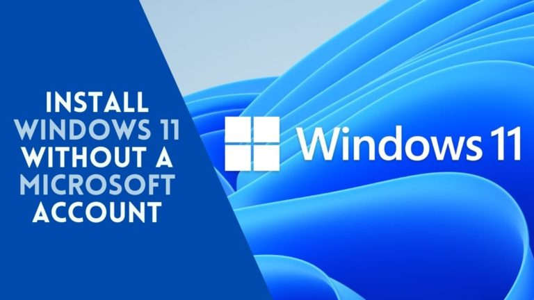 install Windows 11 without a Microsoft account?