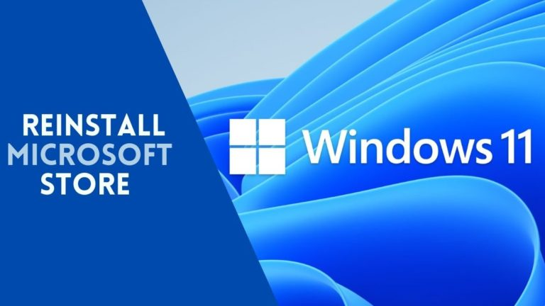 Reinstall Microsoft Store windows 11