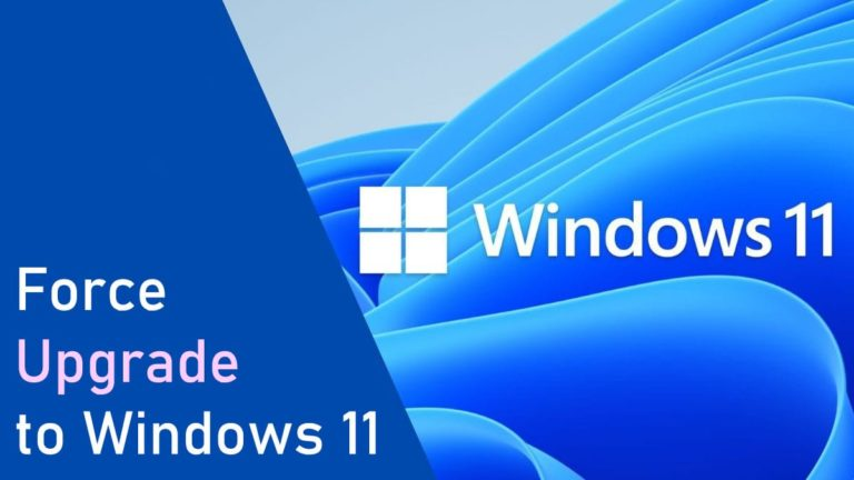 Force upgrade to Windows 11