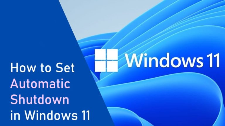 How to Set Automatic Shutdown in windows 11