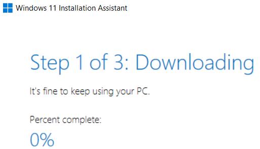 Installation Assistant running